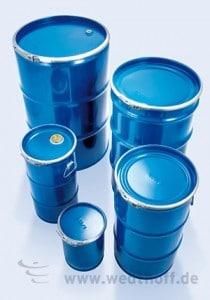 Industrieverpackung, Stahblechverpackung, Spundbehälter, Stahlfässer, Deckelbehälter