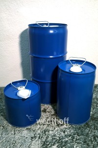 Stahlfässer aus Stahl und Kunststoff, Industrieverpackungen