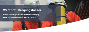Bergungsfass / Bergungsfässer mit T-Codierung Bergungsarbeiten Unfall Havarie