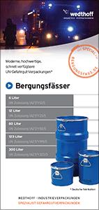 WEDTHOFF Industrieverpackungen – Folder Bergungsfass / Bergungsverpackungen